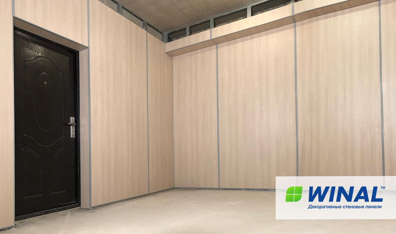 Акриловые огнеустойчивые негорючие стеновые панели для отделки офиса. Производство и монтаж. Доставка по России